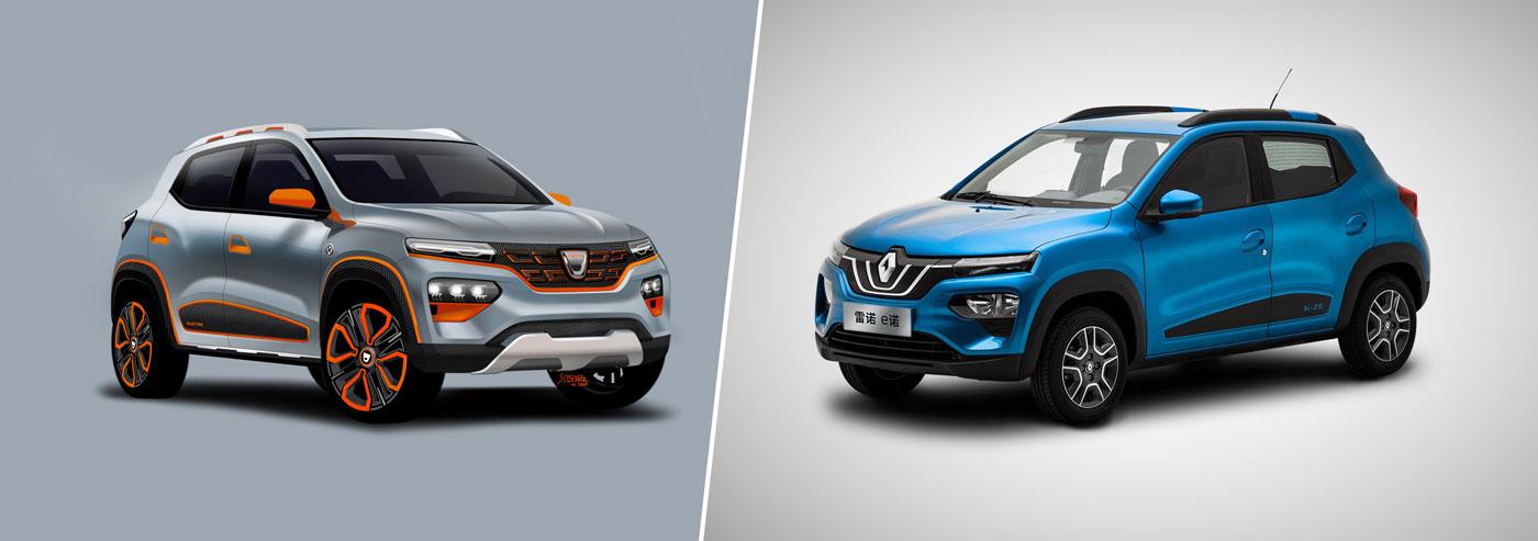 Dacia Spring vs Renault City K-ZE