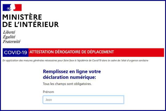 Attestation couvre-feu: l'attestation dérogatoire à télécharger