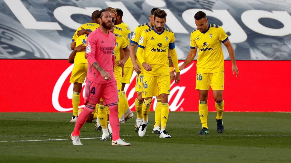 le Real Madrid battu à domicile par le promu Cadix